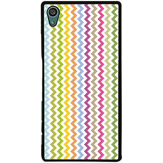 Ayaashii Colorful Zigzag Pattern Back Case Cover for Sony Xperia Z5::Sony Xperia Z5 Dual::Sony Xperia Z5 Premium