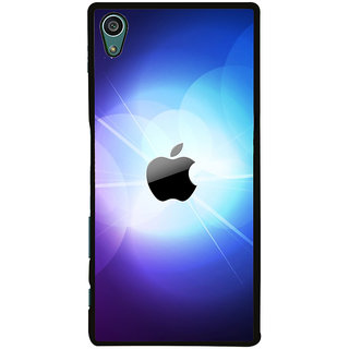 Ayaashii Blue Background Apple Logo Back Case Cover for Sony Xperia Z5::Sony Xperia Z5 Dual::Sony Xperia Z5 Premium