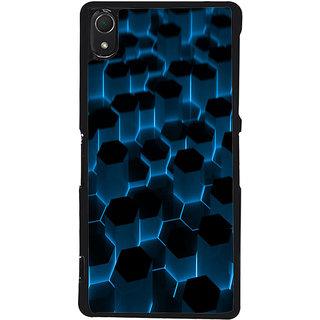 Ayaashii Hexagoan Pattern Back Case Cover for Sony Xperia Z3::Sony Xperia Z3 D6653 D6603