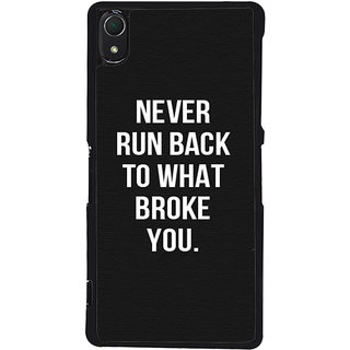 Ayaashii Never Run Back Back Case Cover for Sony Xperia Z3::Sony Xperia Z3 D6653 D6603