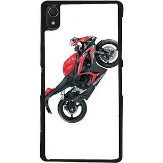 Ayaashii Red Colored Bike Back Case Cover for Sony Xperia Z3::Sony Xperia Z3 D6653 D6603