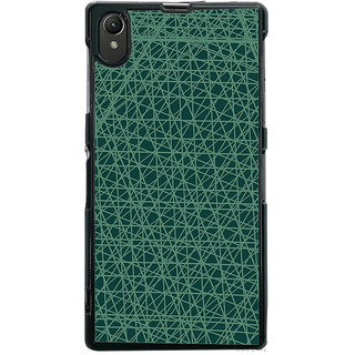 Ayaashii Lines Pattern In Blue Background Back Case Cover for Sony Xperia Z1::Sony Xperia Z1 L39h
