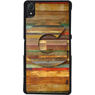 Ayaashii Letter G In Wood Pattern Back Case Cover for Sony Xperia Z3::Sony Xperia Z3 D6653 D6603