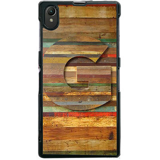Ayaashii Letter G In Wood Pattern Back Case Cover for Sony Xperia Z1::Sony Xperia Z1 L39h