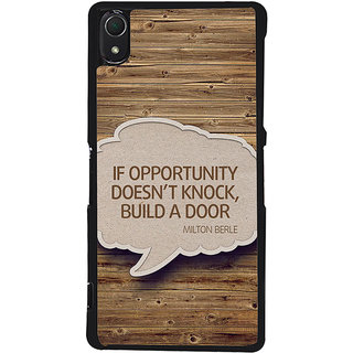Ayaashii If Opputunity Doen't Knock Back Case Cover for Sony Xperia Z3::Sony Xperia Z3 D6653 D6603