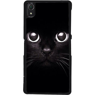 Ayaashii Black Cat Back Case Cover for Sony Xperia Z2::Sony Xperia Z2 L50W D6502 D6503