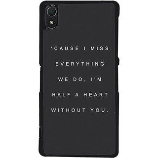 Ayaashii Cause I Miss Everything Back Case Cover for Sony Xperia Z2::Sony Xperia Z2 L50W D6502 D6503