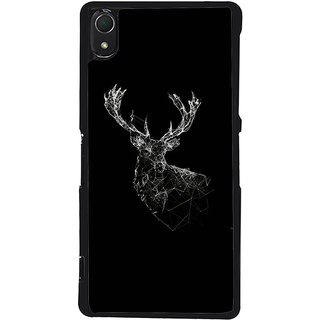 Ayaashii Deer Shade In Black Background Back Case Cover for Sony Xperia Z3::Sony Xperia Z3 D6653 D6603