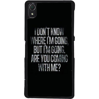 Ayaashii I Don't Know Where Iam Going Back Case Cover for Sony Xperia Z3::Sony Xperia Z3 D6653 D6603