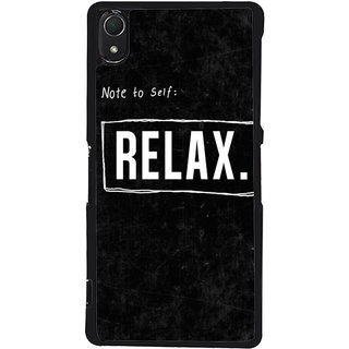 Ayaashii Relax Back Case Cover for Sony Xperia Z2::Sony Xperia Z2 L50W D6502 D6503