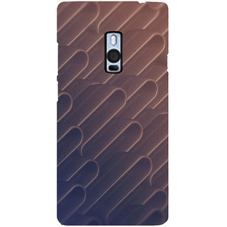 Ayaashii Metal Shape Pattern Back Case Cover for One Plus Two::One Plus 2::One+2