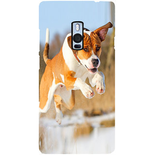 Ayaashii Dog Was Jumping Back Case Cover for One Plus Two::One Plus 2::One+2