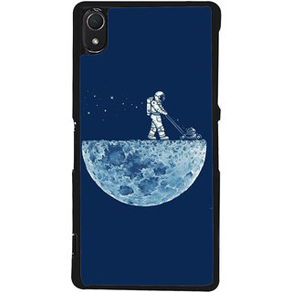 Ayaashii Astronauts Cleaning Moon Back Case Cover for Sony Xperia Z2::Sony Xperia Z2 L50W D6502 D6503