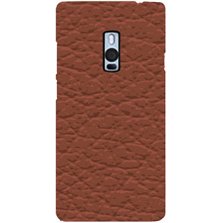 Ayaashii Brownish Pattern Layer Back Case Cover for One Plus Two::One Plus 2::One+2