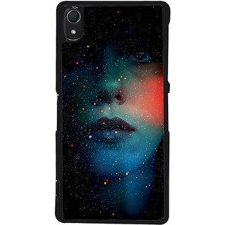 Ayaashii Gloray Face Back Case Cover for Sony Xperia Z2::Sony Xperia Z2 L50W D6502 D6503