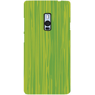 Ayaashii Green Shaded Pattern Back Case Cover for One Plus Two::One Plus 2::One+2