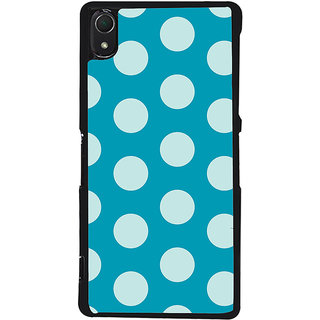 Ayaashii White Dotted In Blue Background Back Case Cover for Sony Xperia Z3::Sony Xperia Z3 D6653 D6603