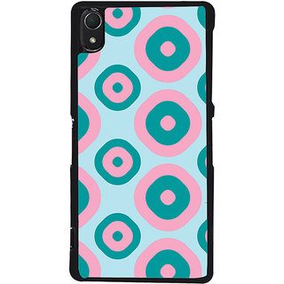 Ayaashii Ring Pattern Back Case Cover for Sony Xperia Z3::Sony Xperia Z3 D6653 D6603