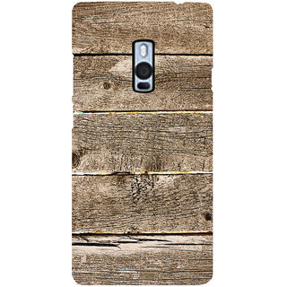 Ayaashii Wood Pattern Back Case Cover for One Plus Two::One Plus 2::One+2