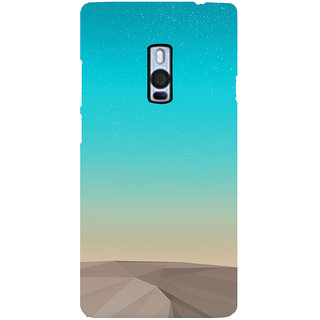 Ayaashii Blue Layered Design Back Case Cover for One Plus Two::One Plus 2::One+2
