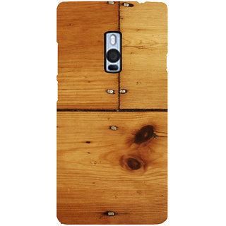 Ayaashii Wood Shaded Layer Back Case Cover for One Plus Two::One Plus 2::One+2