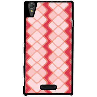Ayaashii Square Pattern Back Case Cover for Sony Xperia T3