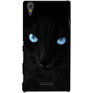 Ayaashii Black Billy Back Case Cover for Sony Xperia T3