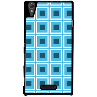 Ayaashii Check Pattern Back Case Cover for Sony Xperia T3