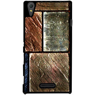 Ayaashii Square Cuts Marbels Back Case Cover for Sony Xperia T3