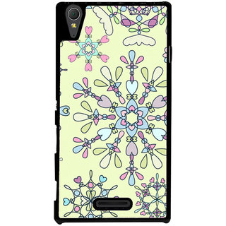 Ayaashii Rangoli Pattern Back Case Cover for Sony Xperia T3