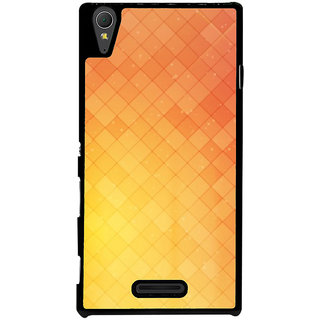Ayaashii Checks Abstract Back Case Cover for Sony Xperia T3