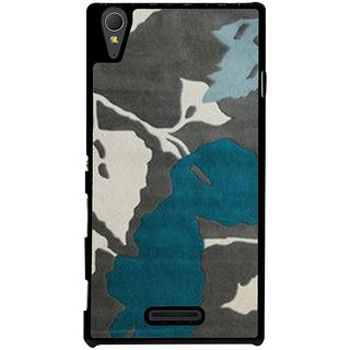 Ayaashii Leaf Pattern Back Case Cover for Sony Xperia T3