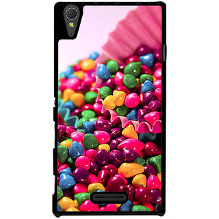Ayaashii Colorful Stones Back Case Cover for Sony Xperia T3