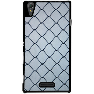 Ayaashii Iron Net Back Case Cover for Sony Xperia T3