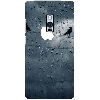 Ayaashii Water Drop Apple Logo Back Case Cover for One Plus Two::One Plus 2::One+2