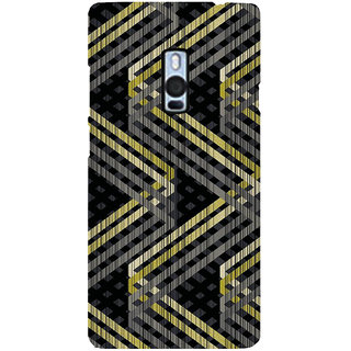 Ayaashii Zigzag Pattern Back Case Cover for One Plus Two::One Plus 2::One+2