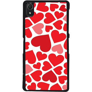 Ayaashii Red Hearts Back Case Cover for Sony Xperia Z2::Sony Xperia Z2 L50W D6502 D6503