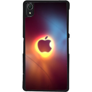 Ayaashii Blur Apple Logo Back Case Cover for Sony Xperia Z2::Sony Xperia Z2 L50W D6502 D6503