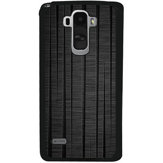 Ayaashii Black Wooden Back Case Cover for LG G4 Stylus