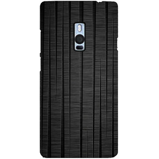 Ayaashii Black Wooden Back Case Cover for One Plus Two::One Plus 2::One+2