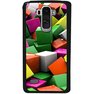 Ayaashii Colorful Cubes Back Case Cover for LG G4 Stylus
