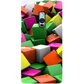 Ayaashii Colorful Cubes Back Case Cover for One Plus Two::One Plus 2::One+2