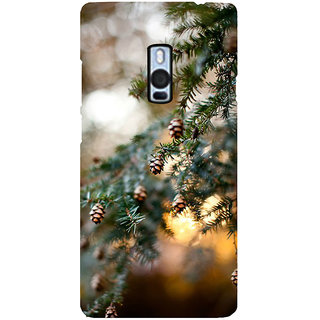 Ayaashii Pine Cone Tree Back Case Cover for One Plus Two::One Plus 2::One+2