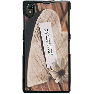 Ayaashii A Life Lived In Love Back Case Cover for Sony Xperia Z1::Sony Xperia Z1 L39h
