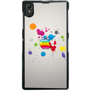 Ayaashii Colorful Apple Logo Back Case Cover for Sony Xperia Z1::Sony Xperia Z1 L39h