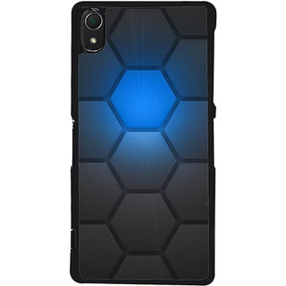 Ayaashii Hexagon Pattern Back Case Cover for Sony Xperia Z2::Sony Xperia Z2 L50W D6502 D6503