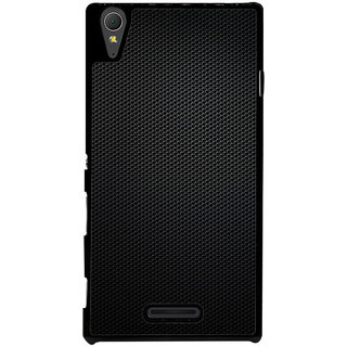 Ayaashii Black Net Pattern Back Case Cover for Sony Xperia T3