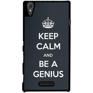 Ayaashii Be A Genius Back Case Cover for Sony Xperia T3