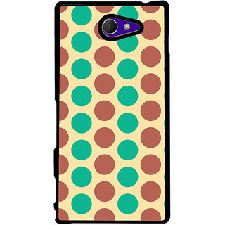 Ayaashii Dot Pattern Back Case Cover for Sony Xperia M2 Dual D2302::Sony Xperia M2