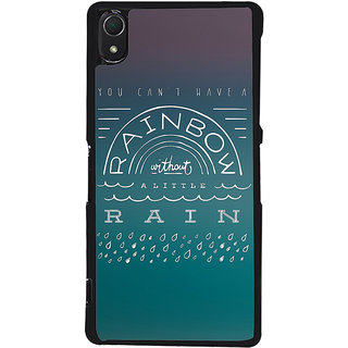 Ayaashii You Can't Have A Rainbow Back Case Cover for Sony Xperia Z3::Sony Xperia Z3 D6653 D6603